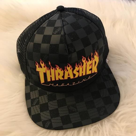 74a3ad8d6d2 VANS X THRASHER Trucker Hat NWT